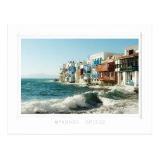 Mykonos - Little Venice postcard