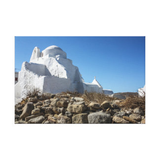 Mykonos Photos: Whitewashed Church Canvas Print