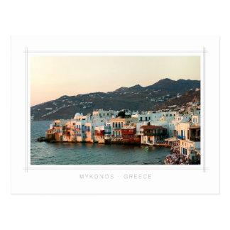 Mykonos - Sunset in Little Venice postcard