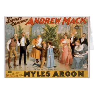 Myles Aroon, 'Andrew Mack', I'm Your's till Death Greeting Cards