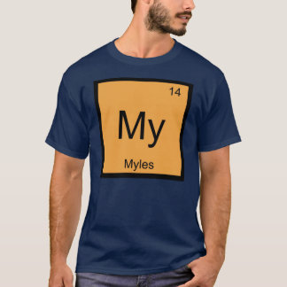 Myles Name Chemistry Element Periodic Table T-Shirt