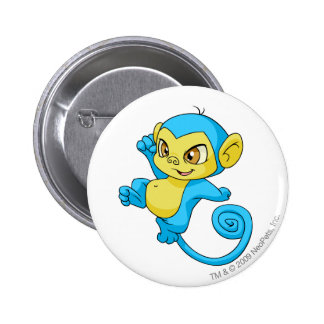 Mynci Blue 6 Cm Round Badge