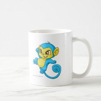 Mynci Blue Basic White Mug