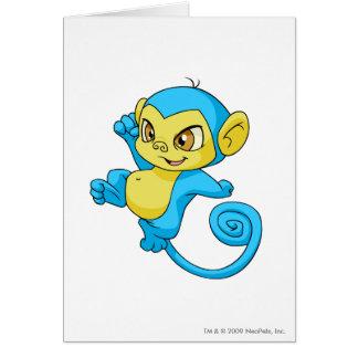 Mynci Blue Greeting Card