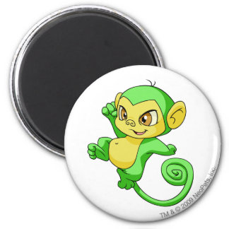 Mynci Green 6 Cm Round Magnet