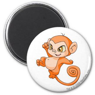 Mynci Orange 6 Cm Round Magnet