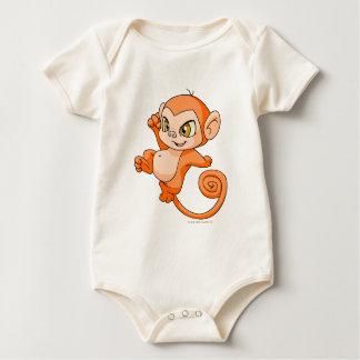 Mynci Orange Baby Bodysuit