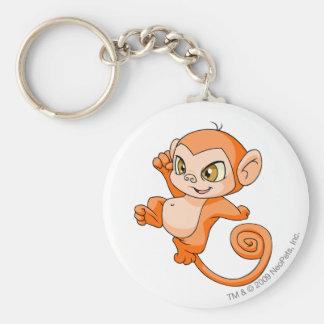 Mynci Orange Basic Round Button Key Ring