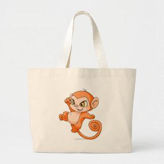 Mynci Orange Jumbo Tote Bag
