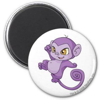 Mynci Purple 6 Cm Round Magnet