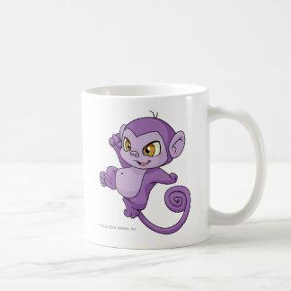 Mynci Purple Basic White Mug
