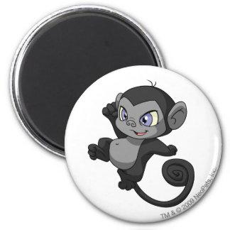 Mynci Shadow 6 Cm Round Magnet