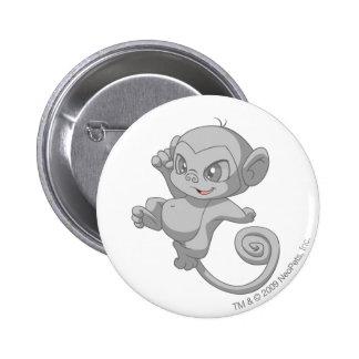 Mynci Silver 6 Cm Round Badge