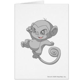 Mynci Silver Greeting Card