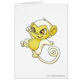 Mynci White Greeting Card