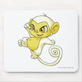 Mynci White Mouse Pad
