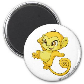 Mynci Yellow 6 Cm Round Magnet