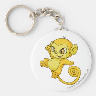 Mynci Yellow Basic Round Button Key Ring
