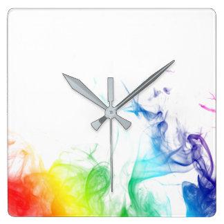 "MyPride365 - ""Rainbow Smoke"" Acrylic Wall Clock"