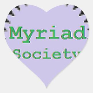 Myriad Society Heart Sticker
