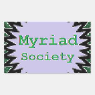 Myriad Society Rectangular Sticker