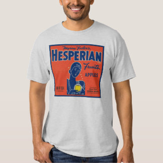 Myron Foster's Hesperian Fruits Apple Crate Labels T-shirts