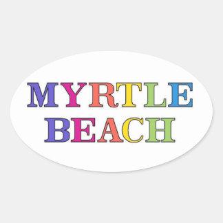 Myrtle Beach Colors Oval Sticker