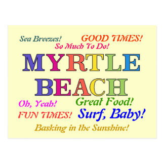 Myrtle Beach Colors Postcard