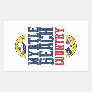 Myrtle Beach Country Rectangular Sticker