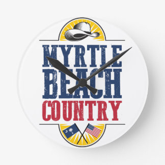 Myrtle Beach Country Round Clock