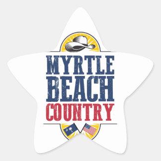 Myrtle Beach Country Star Sticker