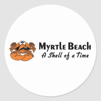 Myrtle Beach Crab Classic Round Sticker