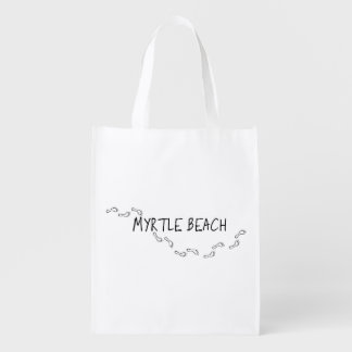 Myrtle Beach Footprints Reusable Grocery Bag