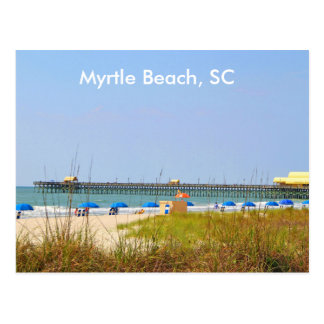 Myrtle Beach SC Postcard, Photography Beach Scene Postcard