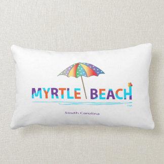 Myrtle Beach, SC with Umbrella Graphic Lumbar Cushion