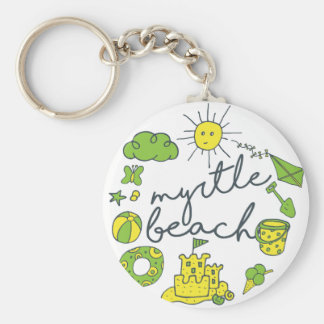 Myrtle Beach Script Key Ring