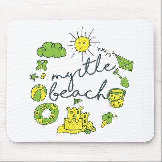Myrtle Beach Script Mouse Pad