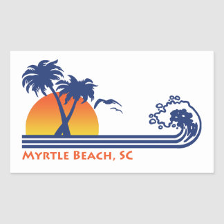 Myrtle Beach South Carolina Rectangular Sticker