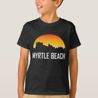 Myrtle Beach South Carolina Sunset Skyline T-Shirt