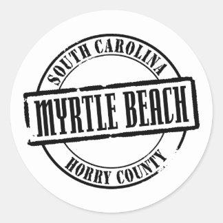 Myrtle Beach Title Classic Round Sticker