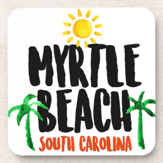 Myrtle Beach Watercolor Coaster
