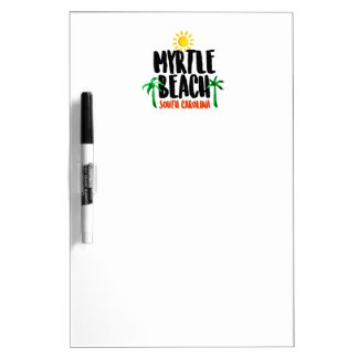 Myrtle Beach Watercolor Dry Erase Board