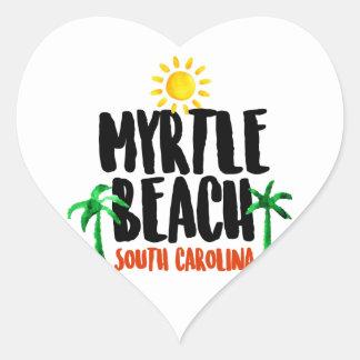 Myrtle Beach Watercolor Heart Sticker
