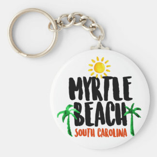 Myrtle Beach Watercolor Key Ring