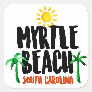 Myrtle Beach Watercolor Square Sticker