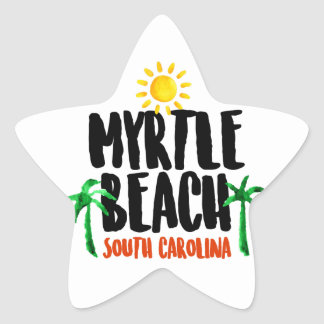 Myrtle Beach Watercolor Star Sticker