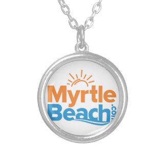 MyrtleBeach.com Logo Silver Plated Necklace