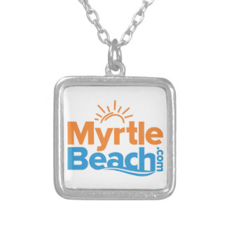 MyrtleBeach.com Logo Silver Plated Necklace
