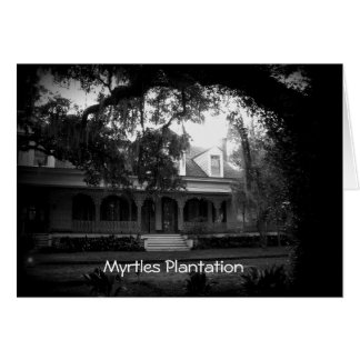 Myrtles Plantation in black and white Card