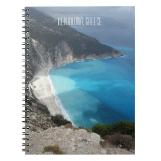 Myrtos Bay Beach Kefalonia Island Greece Spiral Notebook